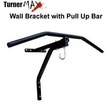 TurnerMAX Punch bag Wall Bracket Chin Pull Up Bar Heavy Duty Iron