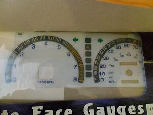 95-97 Toyota Tacoma W/Tac  WHITE FACE GLOW THROUGH GAUGES