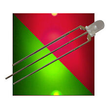50 Bi-Color LEDs 3mm diffus ROT - GRÜN 3-polige LED