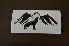 20cm SIBERIAN HUSKY MOUNTAIN STICKER DECAL SLED DOG HUSKIES HOWLING WOLF WOLVES