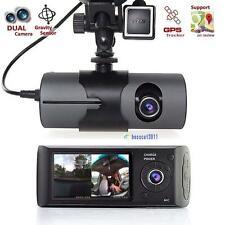 """2.7"""" Vehicle Car DVR Camera Video Recorder Dash Cam G-Sensor GPS Dual Len Cam@DA"""