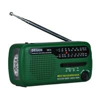DE13 Flashlight FM AM SW Dynamo Solar Power Emergency Radio World Receiver TN2F