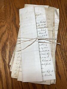 vintage handwritten letters 1880s