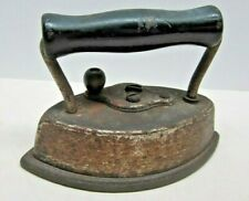 Vintage Dover Sad Iron #62 Cast Iron with Detachable Cover and Handle
