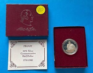 U.S. Silver Half-Dollar George Washington 250 Birthday Anniversary