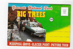 POSTCARD FOLDER-YOSEMITE NATIONAL PARK-BIG TREES-CALIFORNIA