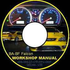 FORD FALCON  FAIRMONT BA BF XR6 XR8 FPV GTP UTE WAGON SEDAN REPAIR MANUAL CD