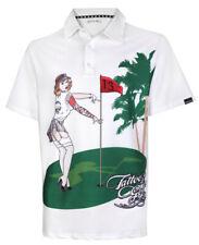 Pin High Performance Men's Golf Shirt (White)