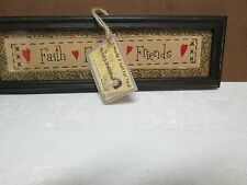 Faith Family Friends Wooden Plaque by Cheryl J. McMullen