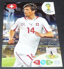 STOCKER SVIZZERA SUISSE SCHWEIZ FOOTBALL CARD PANINI FIFA WORLD CUP BRASIL 2014