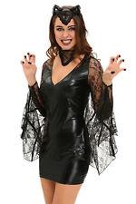 Damen Kostüm Fledermaus Wetlook Vampir Halloween Karneval Gothic Wäschebeutel
