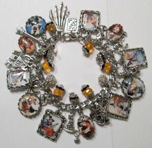 Retro Vintage Halloween Witches Theme Charm Bracelet Hand