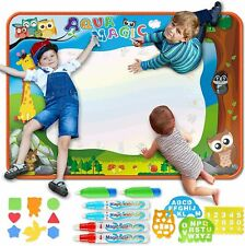 Large Aqua Drawing Mat for Kids Water Painting Writing Doodle Board Toy Color