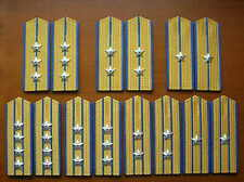 87's series China PLA Air Force Officer Hard Shoulder Boards,7 Pair,Set.