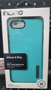 Incipio 10 Ft. Drop Tested DualPro Case for Apple iPhone 8+/7+/6s+/6+  Turquoise