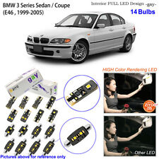 14 Bulbs Deluxe LED Interior Light Kit White For BMW 3 Series E46 Sedan Coupe