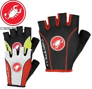 Castelli Free Cycling Gloves | Black, Red, White | Sizes S, M, L
