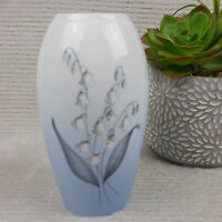 """Lily-Of-The-Valley B&G Bing & Grondahl 7"""" Vase #57 of 251 Made In Denmark"""