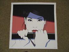 KILL BILL O-Ren Ishii Cottonmouth Hanzo'd Red square poster print CRAIG DRAKE