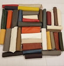 Premium Italian Cowhide Leather Scrap Upholstery 2.5lb LargeSize Flawless Pieces