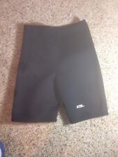 "Excel wetsuit shorts 26"" Waist With Side Zip size Youth Large Black Neoprene KED"
