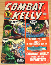 """Combat Kelly #8 VG/FN december 1952 - atlas comics - """"death to the reds"""""""