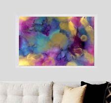 Watercolour XL Fully FRAMED Resin effect Modern ORIGINAL  Abstract Painting Art