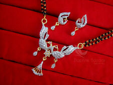 MS221 Daphne Zircon Peacock Mangalsutra for Women, Gift for Wife