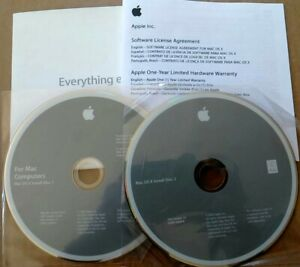 Mac OS X 10.5.4 Leopard Full Install Version Original CD set