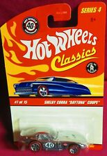"2007 1/64 HOT WHEELS CLASSICS, CHROME SHELBY COBRA ""DAYTONA COUPE"""