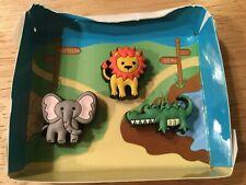 LION ELEPHANT CROCODILE JIBBITZ SHOE CHARM FITS CROCS CLOG CUTE ZOO ANIMALS