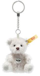 Steiff Mini Teddy Bear Keyring - grey mohair - 8cm - 039560