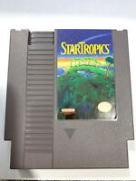 Star Tropics Nintendo NES 1990 Game Cart Only Authentic, Cleaned & Tested Works