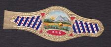 Ancienne Bague de Cigare Vitola  BN122909 Ecusson Etats Unis Ohio