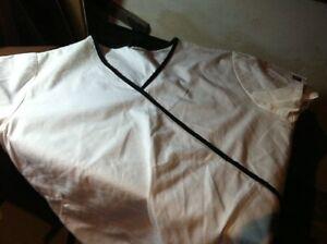 Cherokee Workwear Scrubs Top and Bottoms Set Pants Uniform Small/white Free Ship