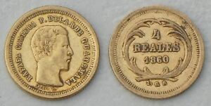 Guatemala 4 Reales 1860-1864 p135 Gold / AU vzgl/xf