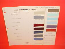 1961 OLDSMOBILE STARFIRE SUPER DYNAMIC 88 98 CONVERTIBLE F-85 OLDS PAINT CHIPS