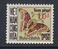 SOUTH VIETNAM:1974 Postage Due (Butterflies) 50c surcharged10d SGDSD470l MNH