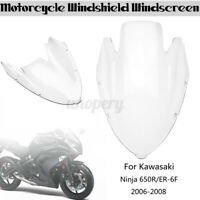 1x Motorcycle Windshield WindScreen Fairing For Kawasaki Ninja 650R ER-6F