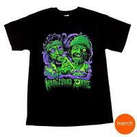Cheech and Chong Marijuana Zombie Halloween Black Weed Pot 420 T-Shirt Tee