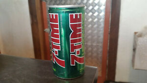 rare vintage 7 time lemonade cool soft drink can tin