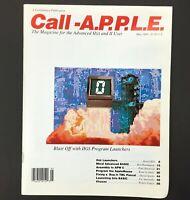 Vintage Apple II IIGS Computer Call A.P.P.L.E. Magazine, Advanced Users May 1989