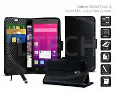 For Apple iPod Touch 2019 Leather Wallet Case Cover Carbon Fiber Card Slot Case