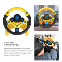 Kids Copilot Simulated Steering Wheel Racing Driver Toy Educational Sounding Toy