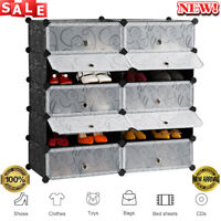 10-Cube Storage Closet Shoe Rack Cubby Shelf Organizer Shelving Wardrobe LANGRIA