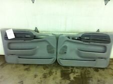 2001 Ford F250 SD Power Left Right Front Inside Door Trim Panels Gray 32 Bad Tab