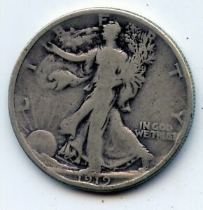 Walking Liberty half 1919-p (SEE PROMO)