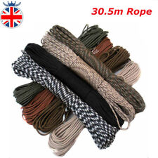 30.5M Paracord Rope For Fishing Recovery Magnet Camping Tent Bushcraft Hiking