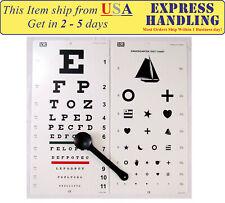 Traditional Snellen & Kindergarten Eye Test Chart with Occluder (Set of 3)