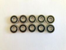 10 pcs R4 2RS double rubber sealed ball bearing, 1/4x 5/8x 0.196 inch